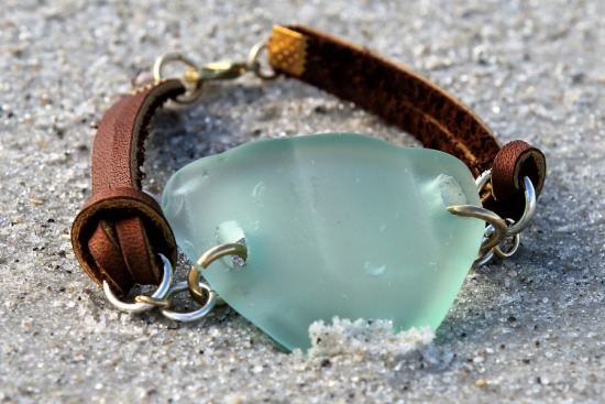 Vaseline Sea Glass Bracelet