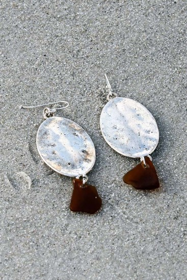Amber Sea Glass Chips
